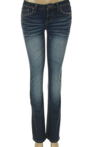 Ladies Platinum Plush Studded Jeans