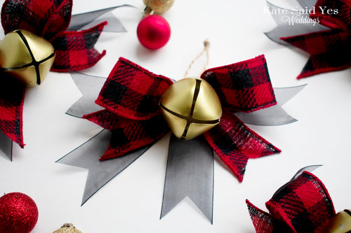 Buffalo Plaid Jingle Bell Christmas Tree Ornament