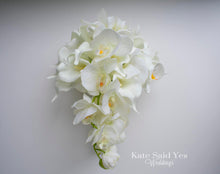 White Orchid and Calla Lily Real Touch Wedding Bouquet