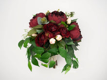 Greenery Bouquet, Silk Wedding Bouquet, Greenery Wedding Bouquet, Peony Bouquet, Burgundy Bouquet