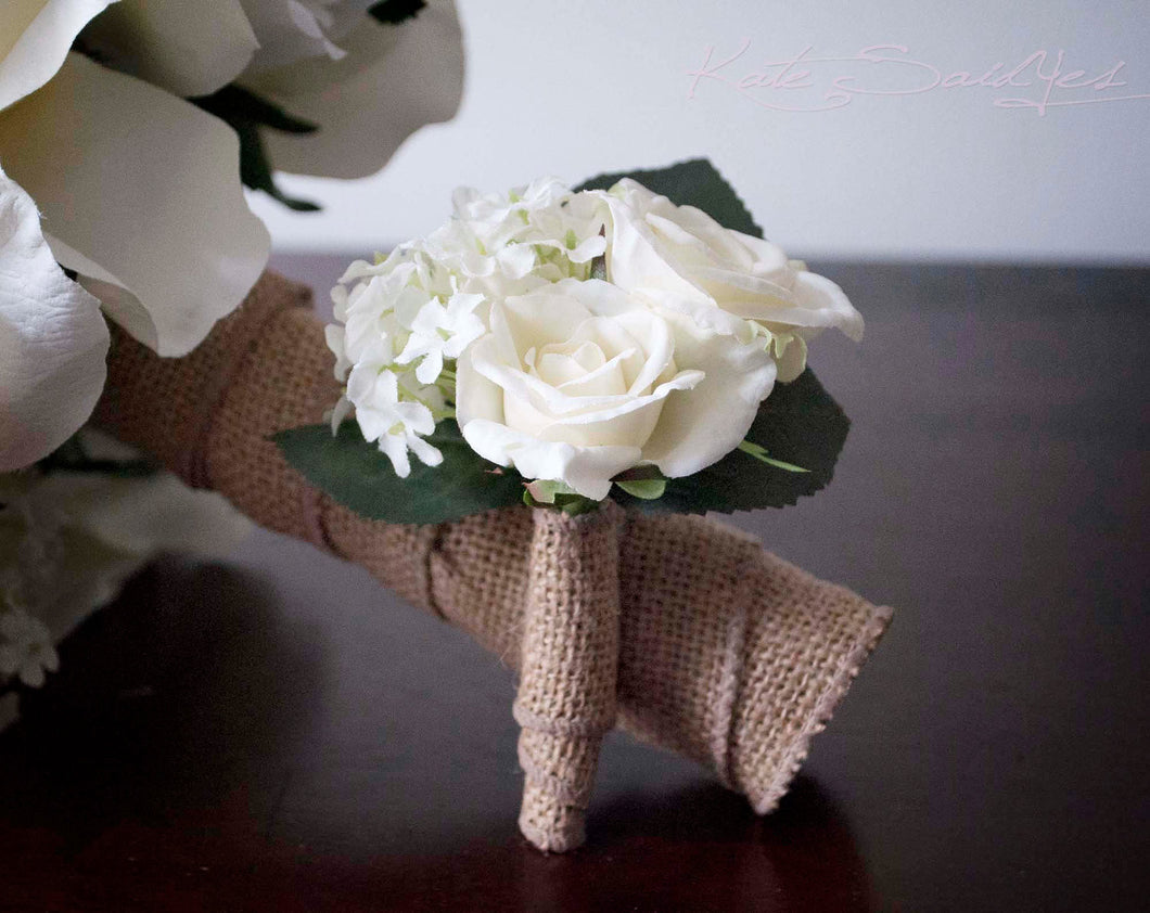 Wedding boutonniere rustic rose hydrangea wedding boutonniere kate wedding boutonniere rustic rose hydrangea wedding boutonniere junglespirit Images