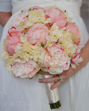 Peony Bouquet - Ivory and Blush Peony Hydrangea and Rose Wedding Bouquet