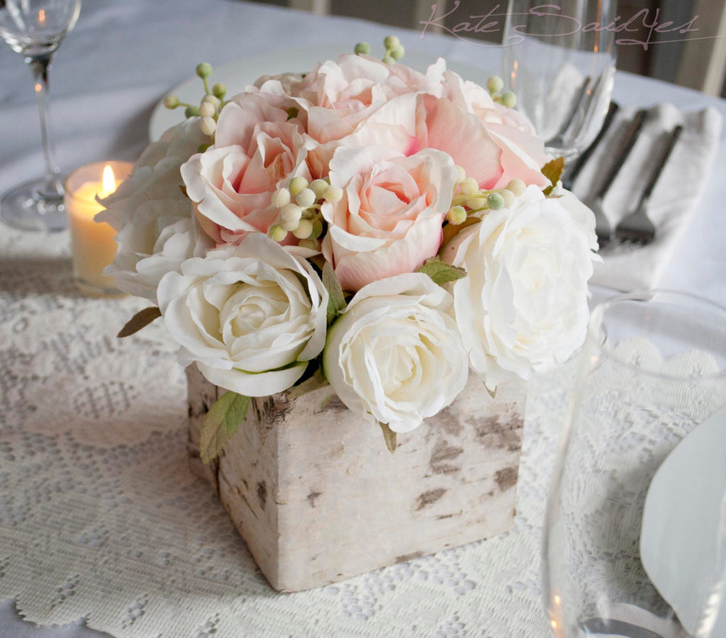 Rose Wedding Ideas: Rustic Blush And Ivory Rose Wedding