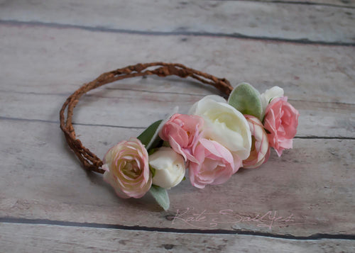 Rustic Flower Girl Crown - Wedding Crown