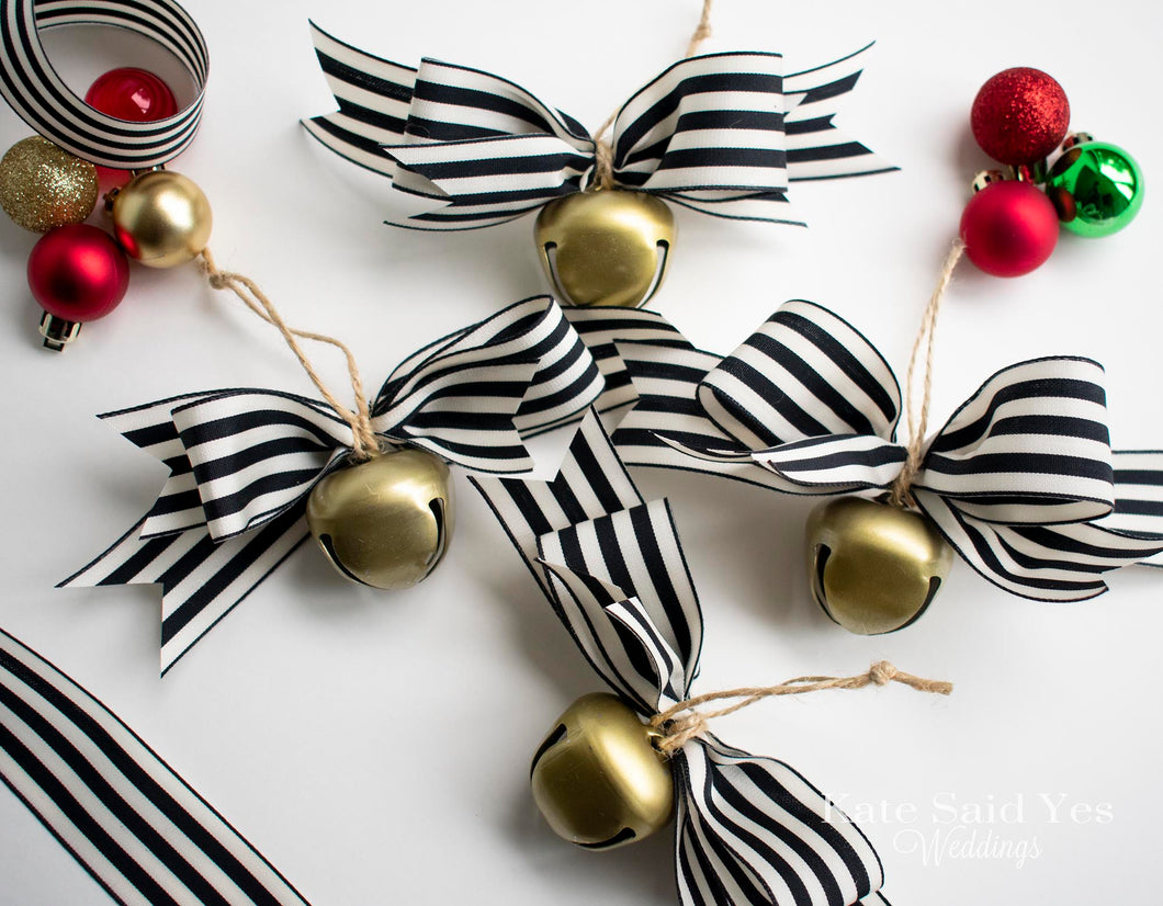 Rustic Farmhouse Jingle Bell Christmas Tree Ornaments