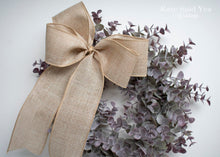 Eucalyptus Door Wreath, Spring Eucalyptus Wreath with Burlap Bow
