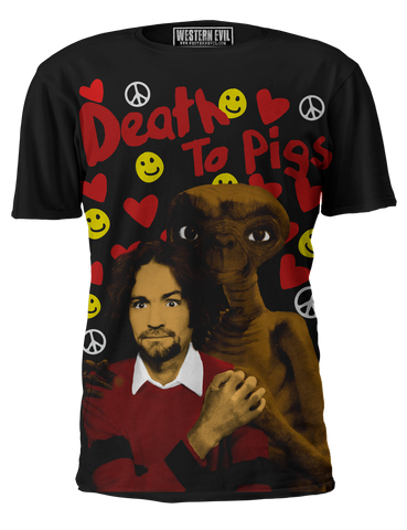 Death To Pigs Masnon Extraterrestrial T-Shirt