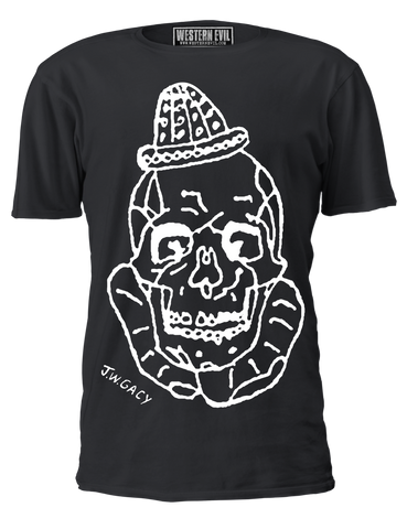 John Wayne Gacy Clown Skull T-Shirt