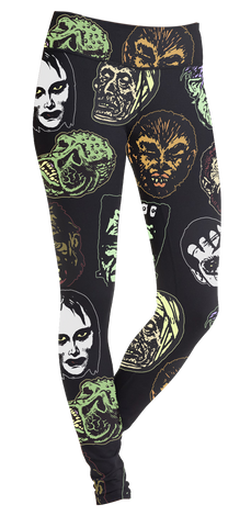 Famous Horror Mask Leggings
