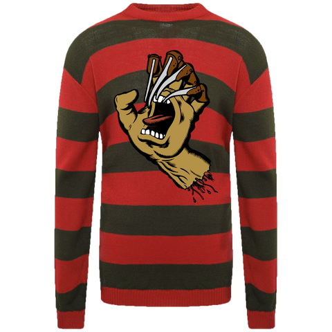 Nightmare on Santa Cruz Street Embroidered Sweater