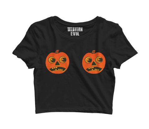 Pumpkins Crop Top T-Shirt