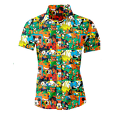 Disney Orgy Wally Wood Men's Button Up Shirt