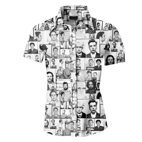 Serial Killer Mugshot Men's Button Up Shirt