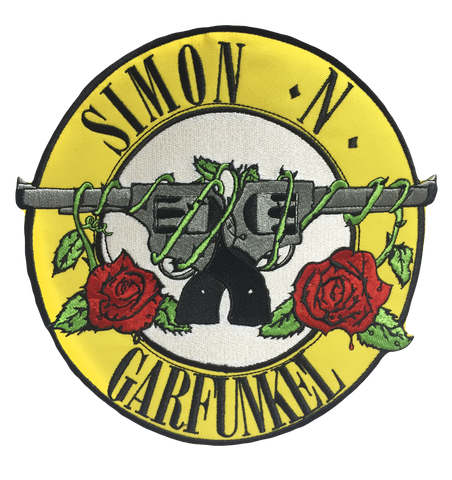 Metal Mash Up Guns N' Roses/Simon and Garfunkle Backpatch