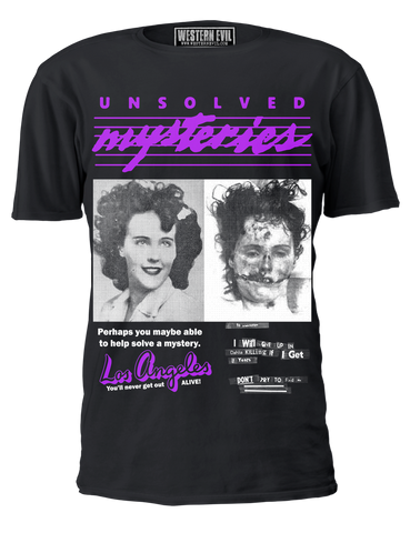 Unsolved Mysteries Black Dahlia T-shirt
