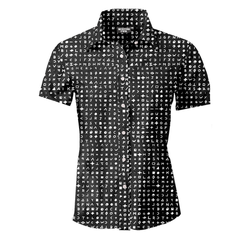 Zodiac Killer Cypher Men's Button Up Shirt
