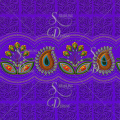Flower Border in Purple Sample View