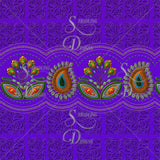 Flower Border in Purple Leggings - Stradling Designs