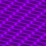 Neon Wavy Lines Purple Dress