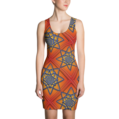 Orange Tile 1 Dress - Stradling Designs