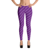 Ribbons Leggings Purple - Stradling Designs