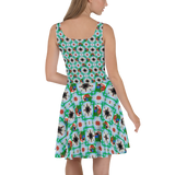 Macaw 4-way Pattern Skater Dress