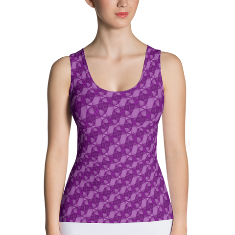 Ribbons Tank Top Purple - Stradling Designs