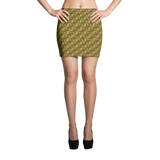 Ribbons Mini Skirt Gold - Stradling Designs
