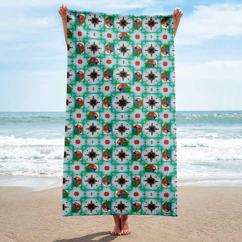 Macaw 4-way Pattern Beach Towel
