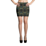 Snakeskin Mini Skirt - Stradling Designs