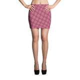 Steel Mini Skirt Red - Stradling Designs