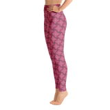 Steel Yoga Leggings Red - Stradling Designs