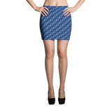 Ribbons Mini Skirt Blue - Stradling Designs