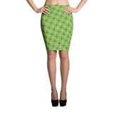 Steel Pencil Skirt Green