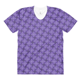 Steel women's crew neck t-shirt Purple - Stradling Designs