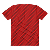 Neon Wavy Lines Red Women's Crew Neck T-shirt