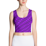 Neon Wavy Lines Purple Crop Top