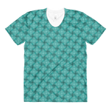 Steel women's crew neck t-shirt Turquoise - Stradling Designs