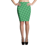 Steel Pencil Skirt Teal - Stradling Designs