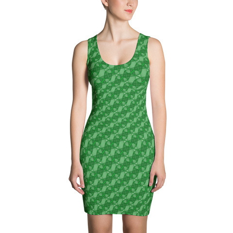 Ribbons Dress Green - Stradling Designs