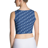 Ribbons Crop Top Blue - Stradling Designs