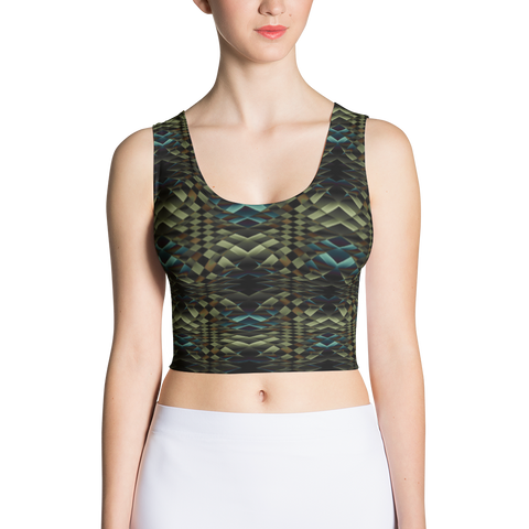 Snakeskin Crop Top