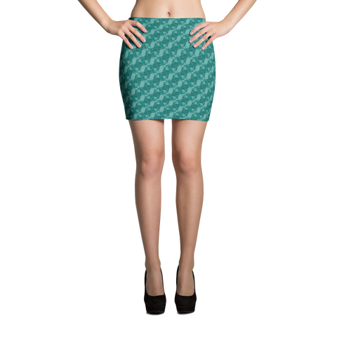 Ribbons Mini Skirt Turquoise - Stradling Designs