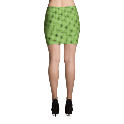 Steel Mini Skirt Green - Stradling Designs