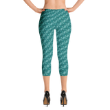 Ribbons Capri Leggings Turquoise