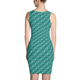 Ribbons Dress Turquoise