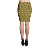 Ribbons Pencil Skirt Gold - Stradling Designs