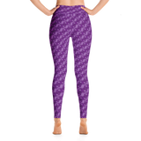 Ribbons Yoga Leggings Purple - Stradling Designs