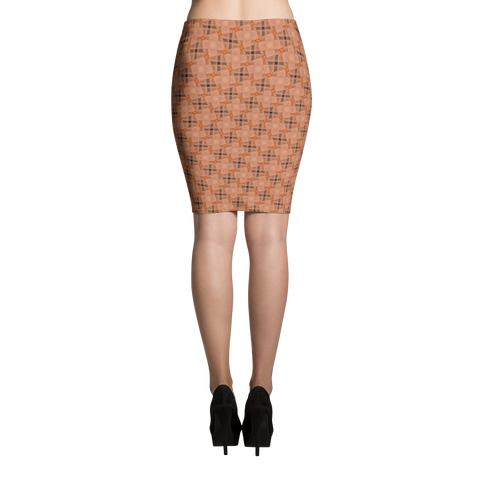 Steel Pencil Skirt Orange - Stradling Designs