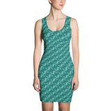 Ribbons Dress Turquoise - Stradling Designs